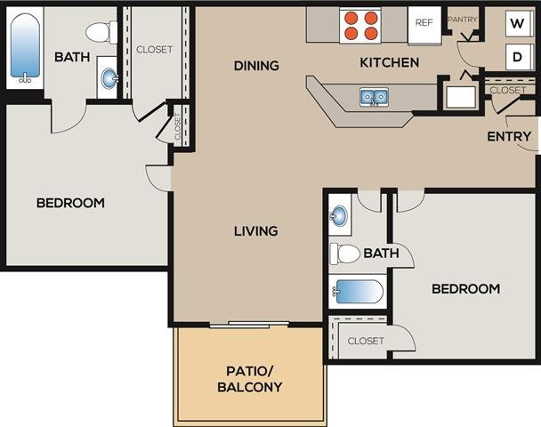 2 Bedrooms 2 Bathrooms Apartment for rent at Radius At West Ashley in Charleston, SC