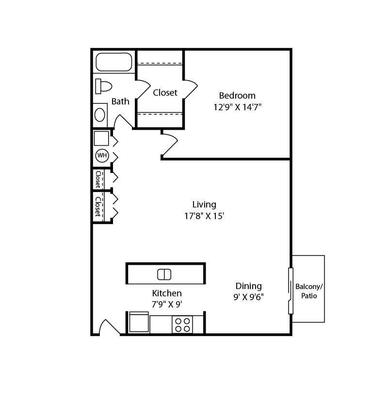 1 Bedroom 1 Bathroom Apartment for rent at Ashford Meridian Hills in Indianapolis, IN