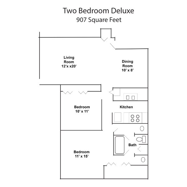 2 Bedrooms 1 Bathroom Apartment for rent at Creekside At Meridian Hills in Indianapolis, IN