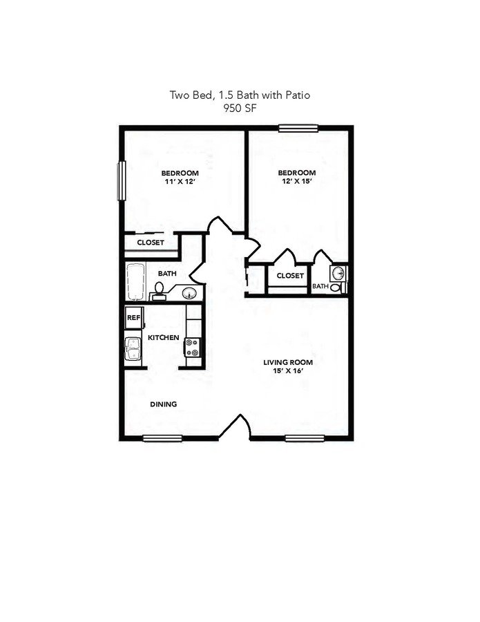 2 Bedrooms 1 Bathroom Apartment for rent at Ashford Palmetto Square in Charleston, SC