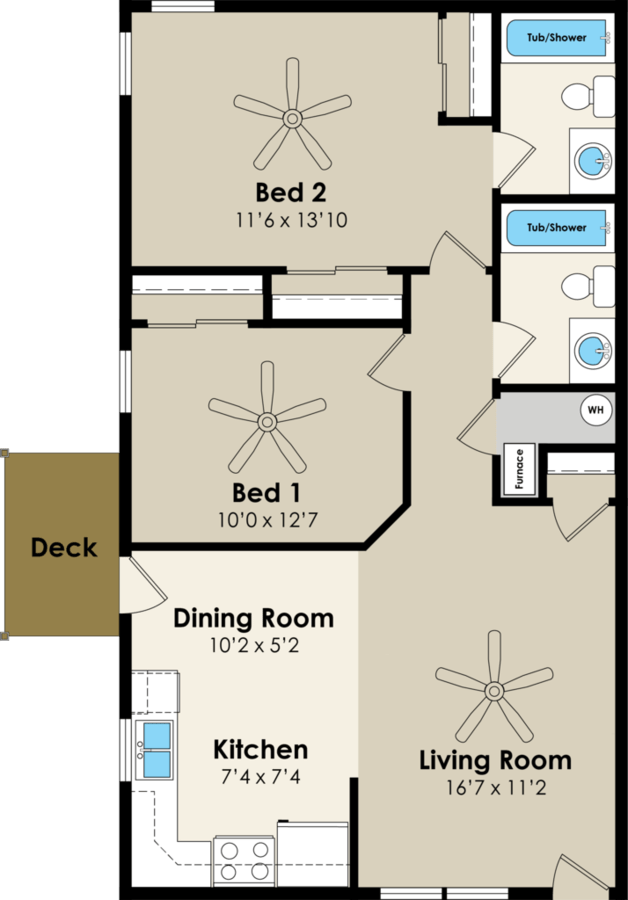 2 Bedrooms 2 Bathrooms Apartment for rent at Walnut Place in Ames, IA