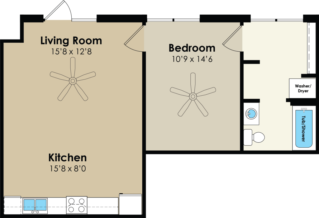 1 Bedroom 1 Bathroom Apartment for rent at West Towne in Ames, IA
