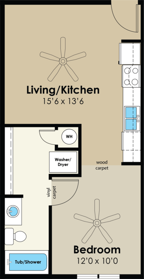 Studio 1 Bathroom Apartment for rent at Westwood Village in Ames, IA