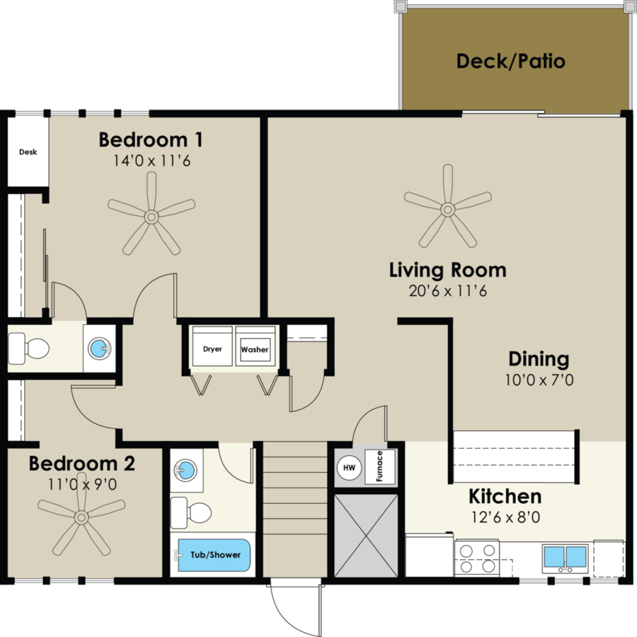 2 Bedrooms 2 Bathrooms Apartment for rent at Westwood Village in Ames, IA