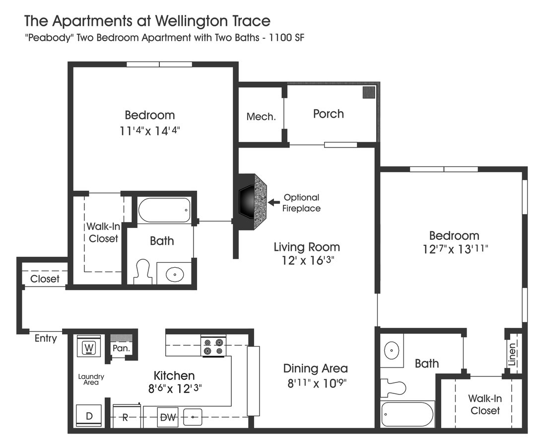 2 Bedrooms 2 Bathrooms Apartment for rent at The Apartments At Wellington Trace in Frederick, MD