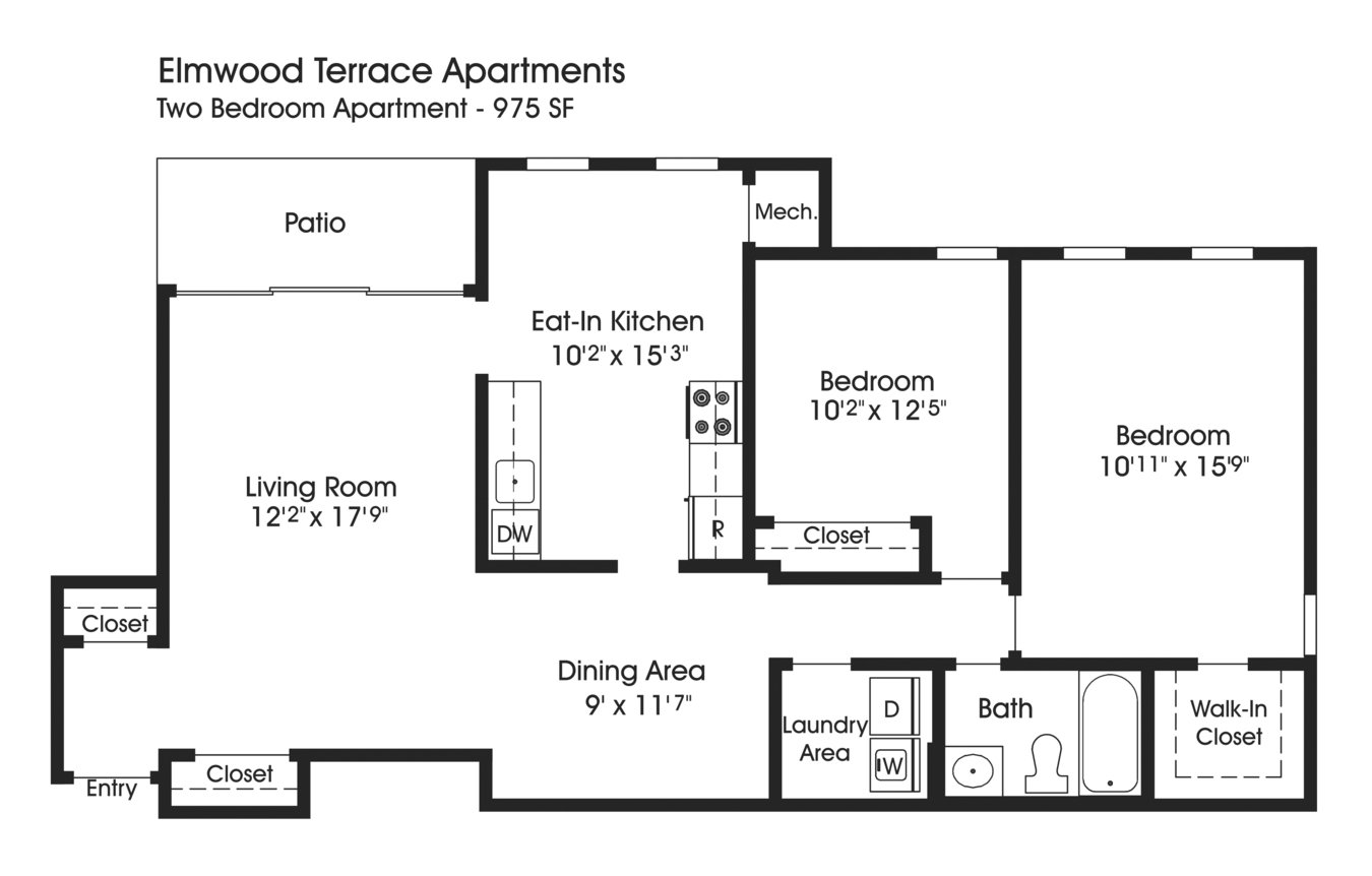 2 Bedrooms 1 Bathroom Apartment for rent at The Apartments At Elmwood Terrace in Frederick, MD