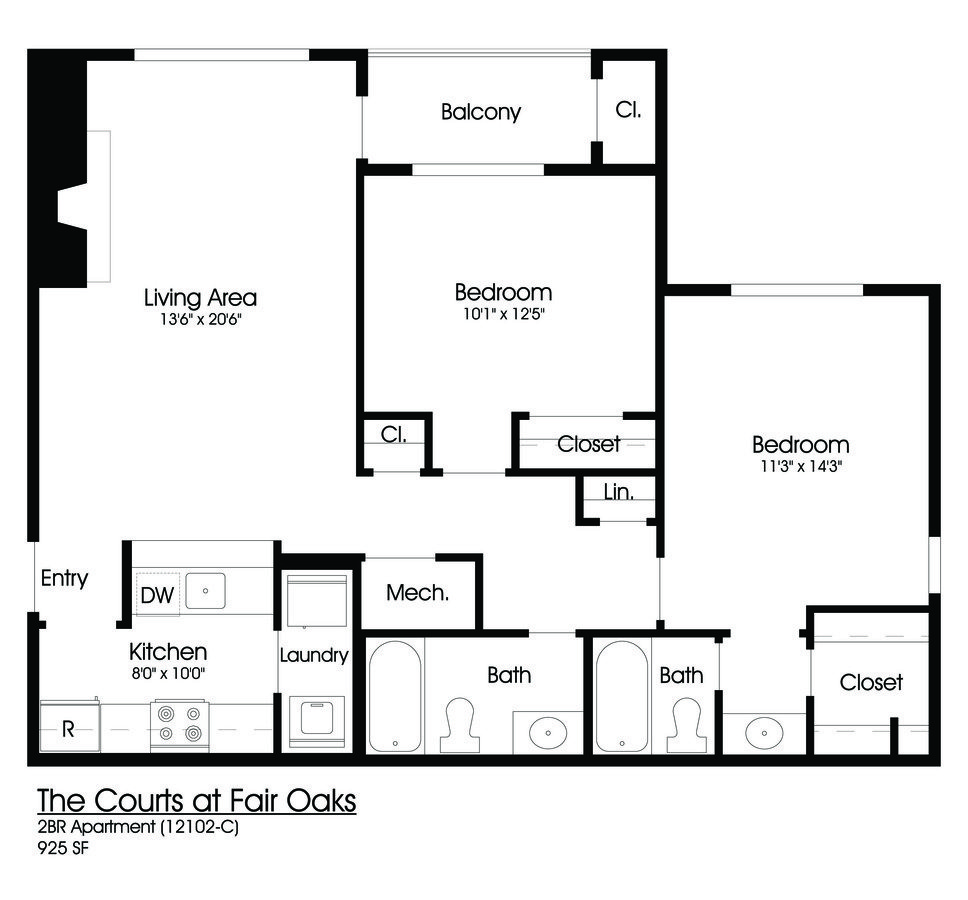 2 Bedrooms 2 Bathrooms Apartment for rent at The Courts At Fair Oaks in Fairfax, VA