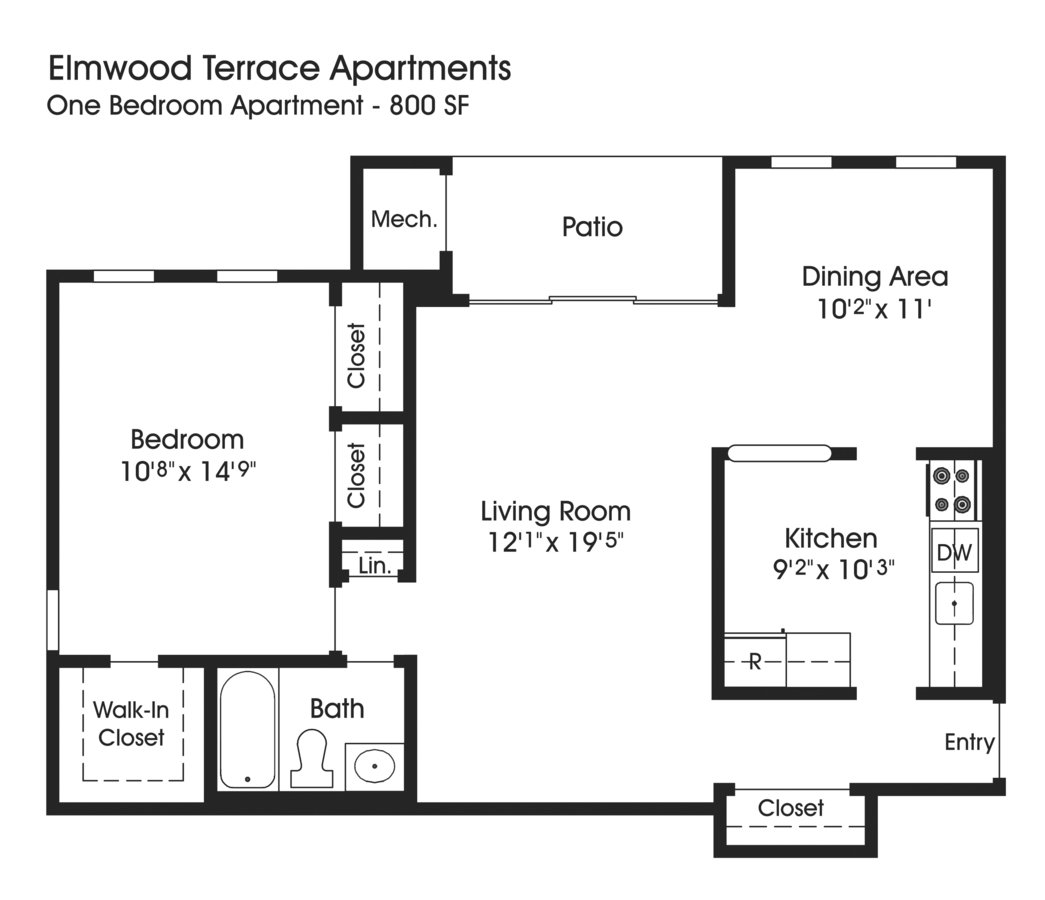 1 Bedroom 1 Bathroom Apartment for rent at The Apartments At Elmwood Terrace in Frederick, MD