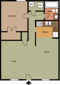 1 Bedroom 1 Bathroom Apartment for rent at Buckingham in Elizabethtown, KY