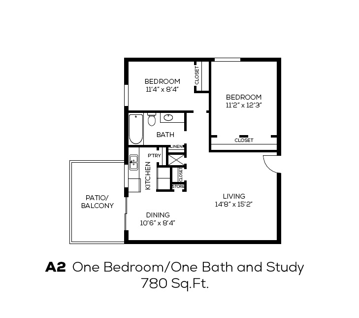 1 Bedroom 1 Bathroom Apartment for rent at Broadway Oaks Apartment Homes in San Antonio, TX