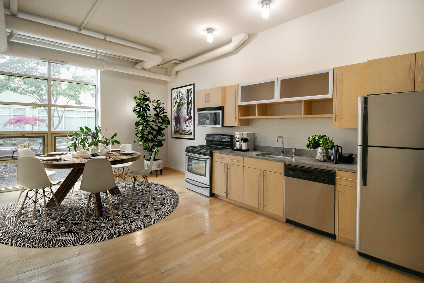 2 Bedrooms 3 Bathrooms Apartment for rent at Sixty Spring in Columbus, OH