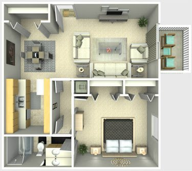 1 Bedroom 1 Bathroom Apartment for rent at The Park at Leeds in College Park, GA