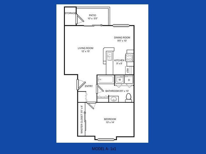 1 Bedroom 1 Bathroom Apartment for rent at Atlas Apartments in Port Orchard, WA
