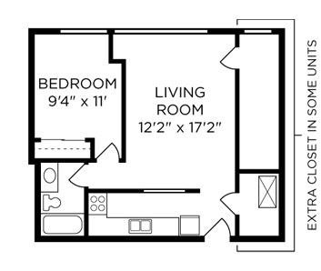 1 Bedroom 1 Bathroom Apartment for rent at Schoolhouse Flats Apartments in Dayton, KY
