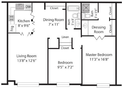 2 Bedrooms 2 Bathrooms Apartment for rent at Cassady North Apartments in Columbus, OH