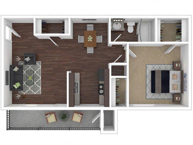 1 Bedroom 1 Bathroom Apartment for rent at Canyon Creek Village Apartments in Phoenix, AZ