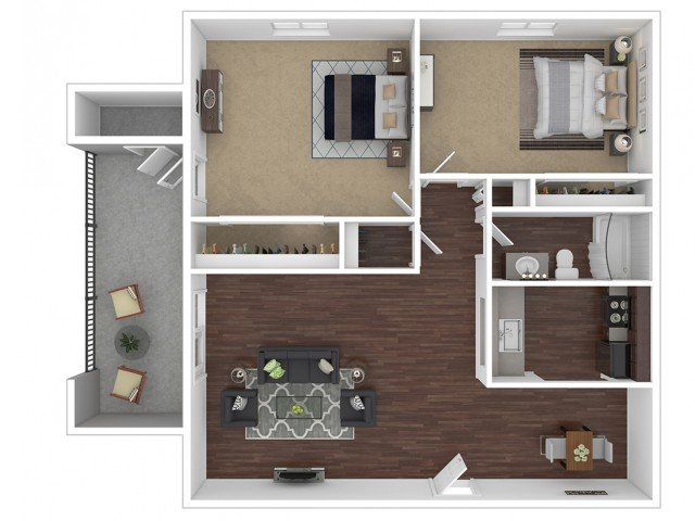 2 Bedrooms 1 Bathroom Apartment for rent at Canyon Creek Village Apartments in Phoenix, AZ