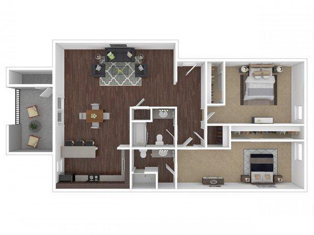 2 Bedrooms 2 Bathrooms Apartment for rent at Canyon Creek Village Apartments in Phoenix, AZ