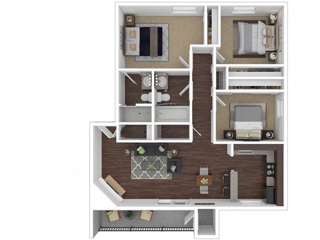 3 Bedrooms 2 Bathrooms Apartment for rent at Canyon Creek Village Apartments in Phoenix, AZ