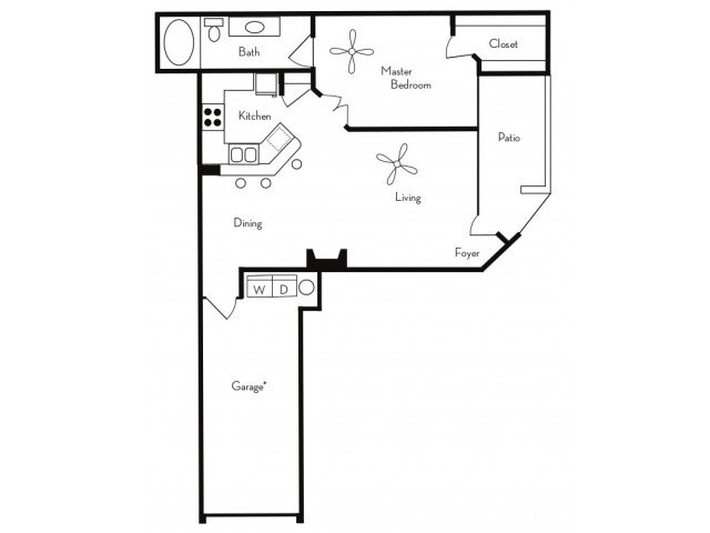 1 Bedroom 1 Bathroom Apartment for rent at Pavilions On Central Apartments in Phoenix, AZ