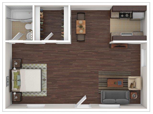 Studio 1 Bathroom Apartment for rent at Stillwater Apartments in Glendale, AZ