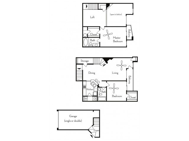 2 Bedrooms 2 Bathrooms Apartment for rent at Pavilions On Central Apartments in Phoenix, AZ
