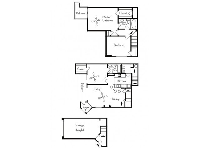 3 Bedrooms 2 Bathrooms Apartment for rent at Pavilions On Central Apartments in Phoenix, AZ