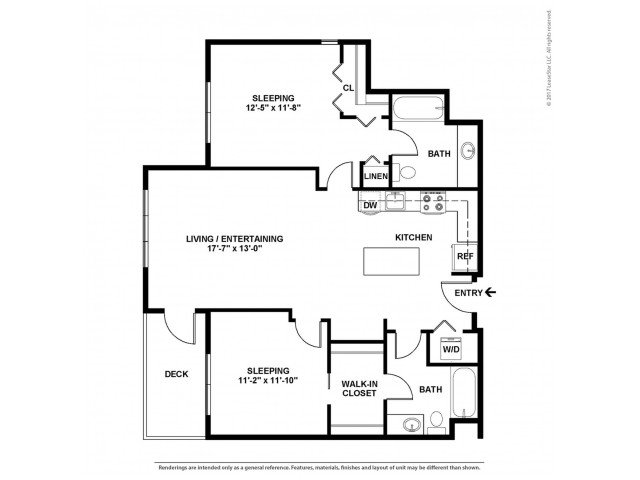 2 Bedrooms 2 Bathrooms Apartment for rent at The Noble Apartments in Seattle, WA