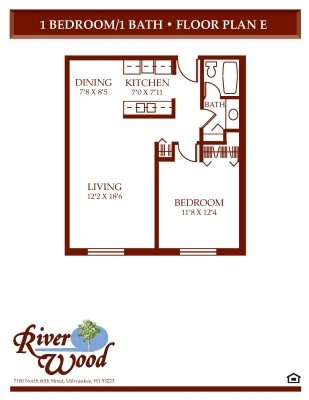 1 Bedroom 1 Bathroom Apartment for rent at Riverwood in Milwaukee, WI