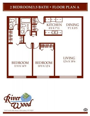 2 Bedrooms 2 Bathrooms Apartment for rent at Riverwood in Milwaukee, WI