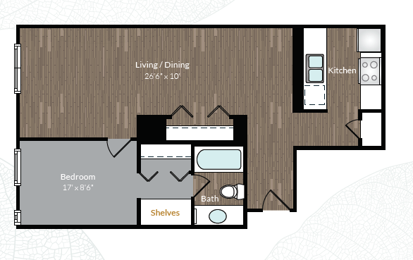 1 Bedroom 1 Bathroom Apartment for rent at Country Club Towers And Gardens in Denver, CO