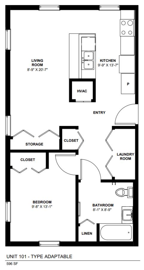 1 Bedroom 1 Bathroom Apartment for rent at 1212 Larkin in Elgin, IL