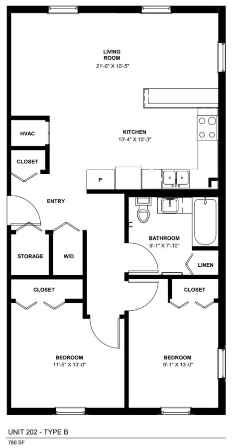 2 Bedrooms 1 Bathroom Apartment for rent at 1212 Larkin in Elgin, IL