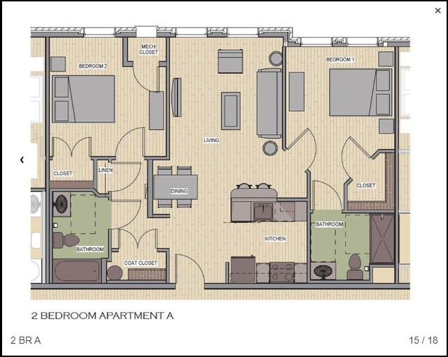 2 Bedrooms 2 Bathrooms Apartment for rent at The Apartments At Sharpe Square in Frederick, MD