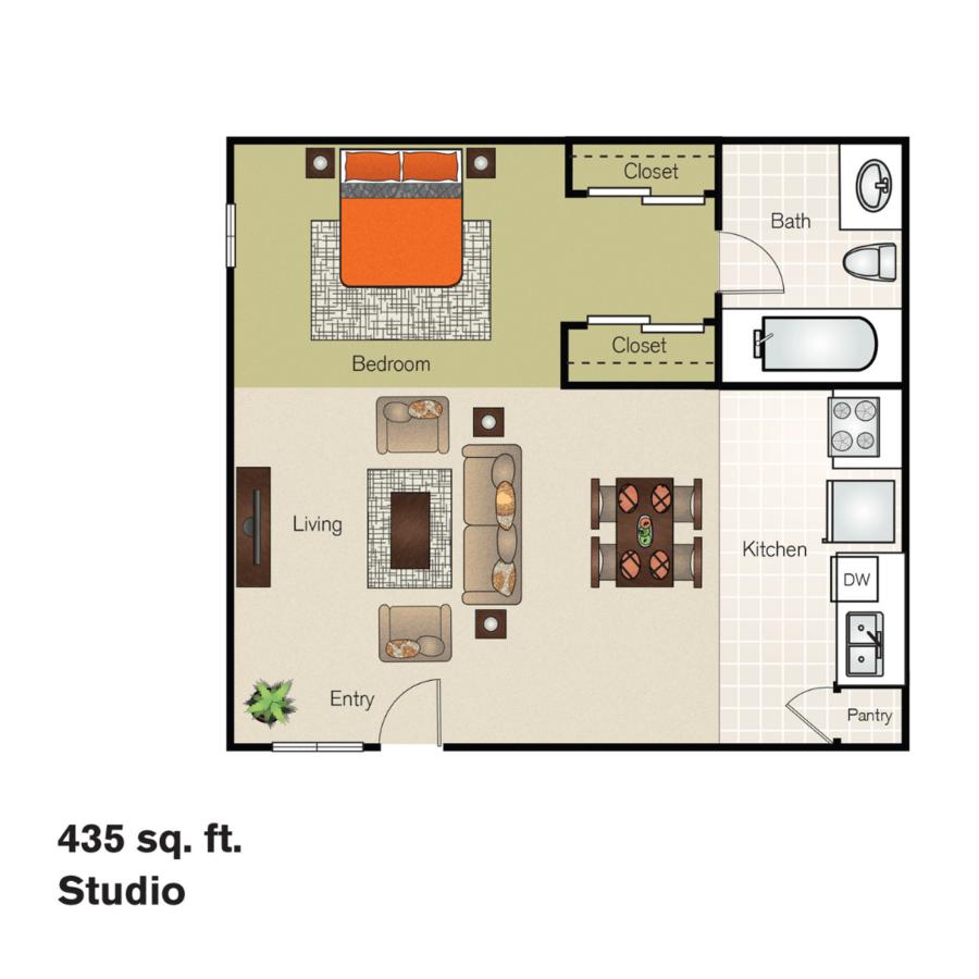 Studio 1 Bathroom Apartment for rent at Residences At Daniel Webster in Merrimack, NH