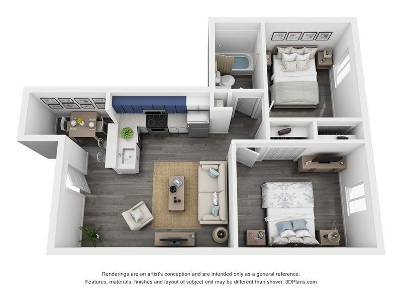 2 Bedrooms 1 Bathroom Apartment for rent at The Jewell Apartments in Denver, CO