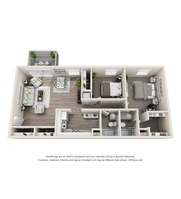 2 Bedrooms 2 Bathrooms Apartment for rent at The Connect in Indianapolis, IN