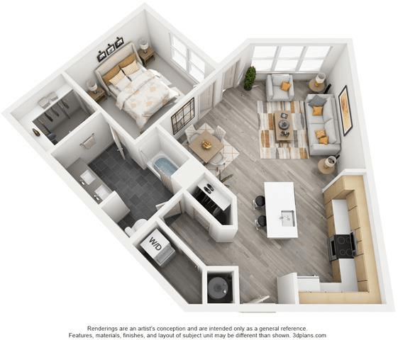 1 Bedroom 1 Bathroom Apartment for rent at The Flats at Big Tex - Affordable Luxury in San Antonio, TX