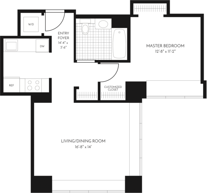 1 Bedroom 1 Bathroom Apartment for rent at The Paramount in San Francisco, CA