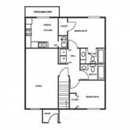 2 Bedrooms 2 Bathrooms Apartment for rent at Hickory Hills in Junction City, KS