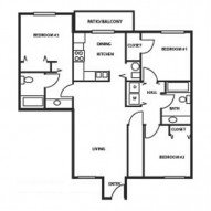 3 Bedrooms 2 Bathrooms Apartment for rent at Hickory Hills in Junction City, KS