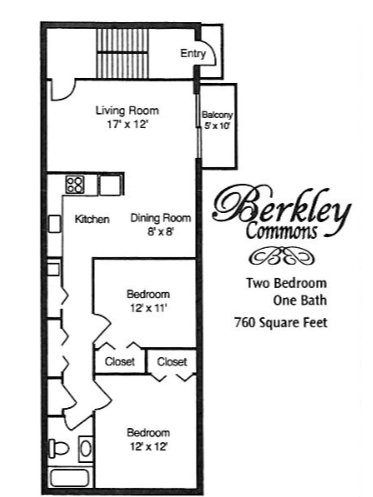 2 Bedrooms 1 Bathroom Apartment for rent at Berkley Commons Apartments in Indianapois, IN