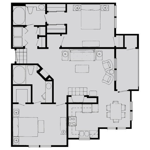 2 Bedrooms 2 Bathrooms Apartment for rent at The Dorchester Apartments in Dallas, TX