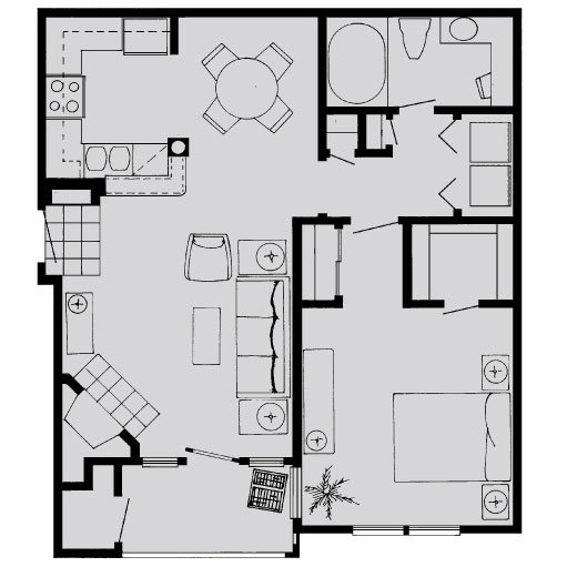 1 Bedroom 1 Bathroom Apartment for rent at Lanesborough Apartments in Houston, TX