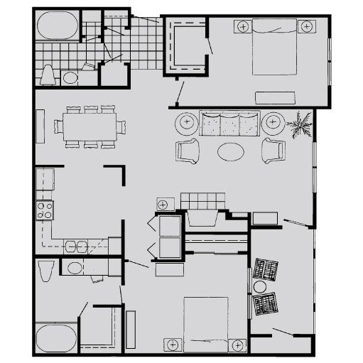 2 Bedrooms 2 Bathrooms Apartment for rent at Lanesborough Apartments in Houston, TX