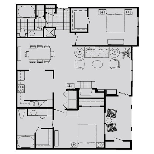 2 Bedrooms 2 Bathrooms Apartment for rent at The Biltmore Apartments in Omaha, NE