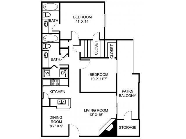 2 Bedrooms 2 Bathrooms Apartment for rent at Remington Place in Cincinnati, OH