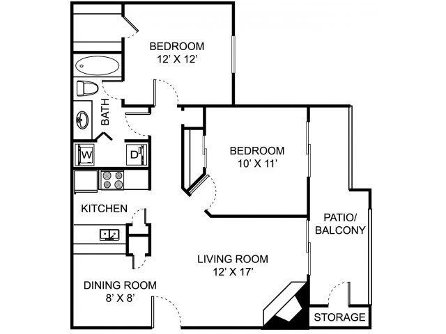 2 Bedrooms 1 Bathroom Apartment for rent at Remington Place in Cincinnati, OH