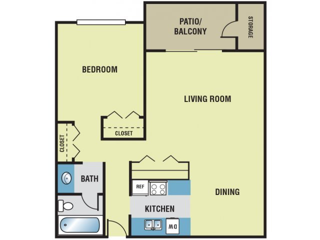 1 Bedroom 1 Bathroom Apartment for rent at Sundance West in Reno, NV