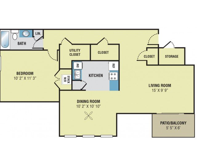 1 Bedroom 1 Bathroom Apartment for rent at Park Meadows in Kansas City, MO